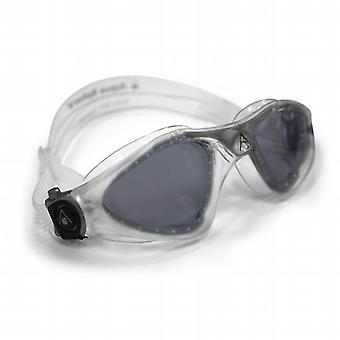Aqua Sphere Kayenne Swimming Goggle - Dark Lenses - Clear/Silver