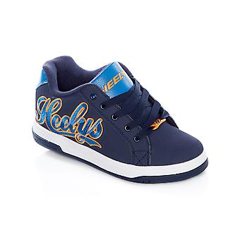 Heelys Navy-Royal-Orange Split Kids One Wheel Shoe