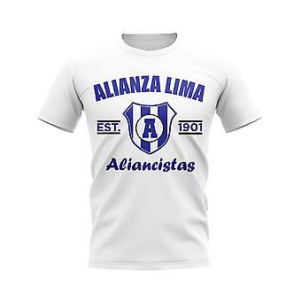 Alianza Lima etablerad fotboll T-shirt (vit)