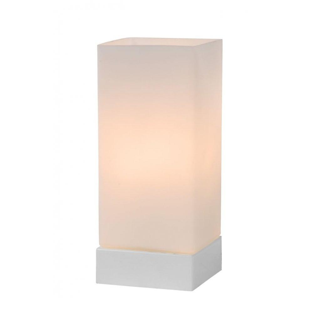 Lucide Colour-Touch Cottage Square Glass Opal Table Lamp