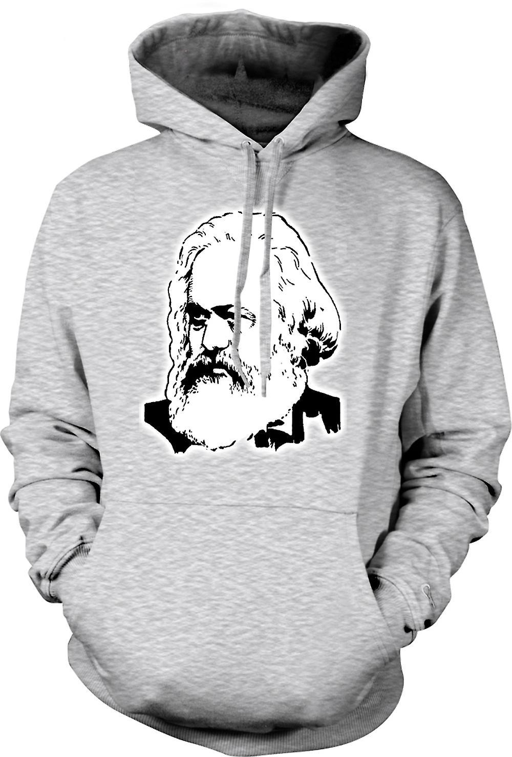 Mens-Hoodie - Karl-Marx - Symbol