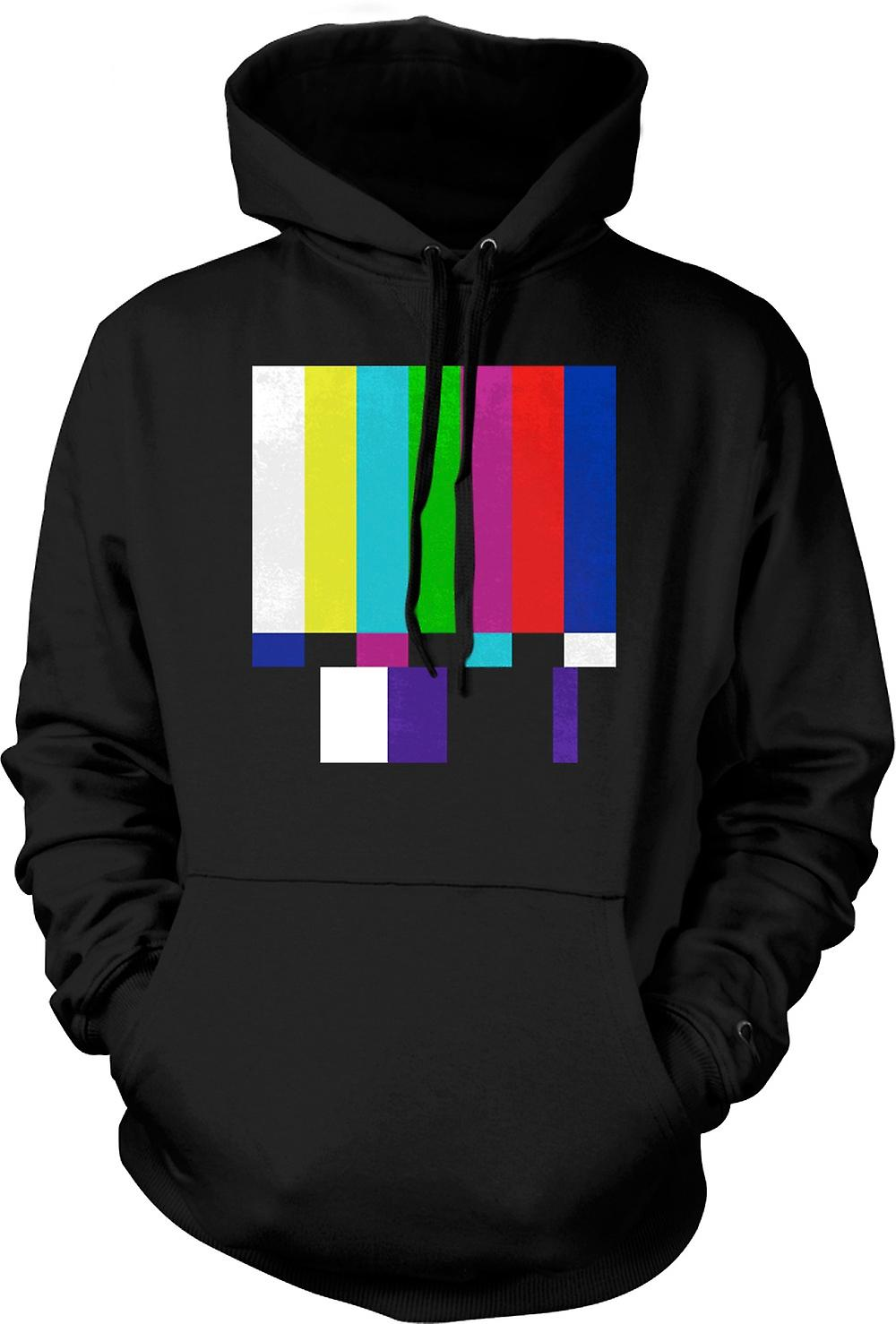 Mens Hoodie - TV Technical Screen 80s Retro