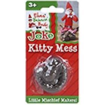 Elves Behavin Badly - Kitty Mess - Standard Naughty Elf Joke