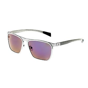 Breed Capricorn Titanium Polarized Sunglasses - Silver/Purple-Blue