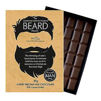 Roliga presenter till skäggiga män och skägg älskare boxed choklad gratulationskort present BTQ112