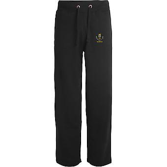 Loyal Regiment Veteran - Licensed British Army Embroidered Open Hem Sweatpants / Jogging Bottoms