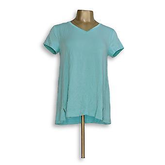 H di Halston Women's Top Essentials V-Neck Blue A306231