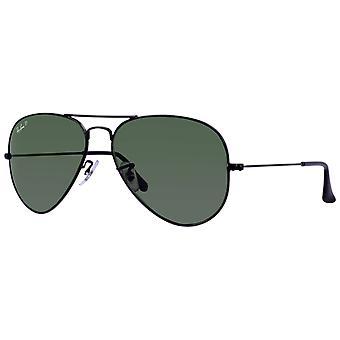 Ray-Ban Aviator Classic Black Polarized Green