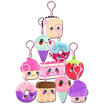 Squeezamals Desserts Series Clip On Plush (uno suministrado)
