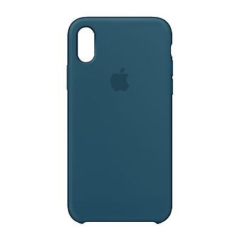 Originalverpackt MR6G2ZM/A Apple Silikon Mikrofaser Cover Hülle für iPhone X - kosmosblau