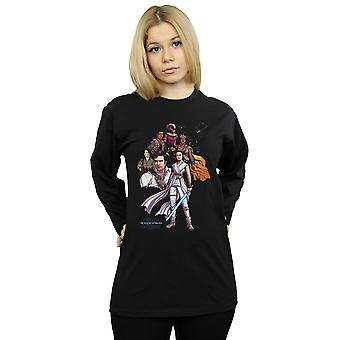 Star Wars The Rise Of Skywalker Resistance Illustration Long Sleeved T-Shirt Women's Boyfriend Fit