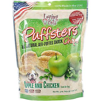 Puffsters Treat Chips 4oz-Apple & Chicken LP5100