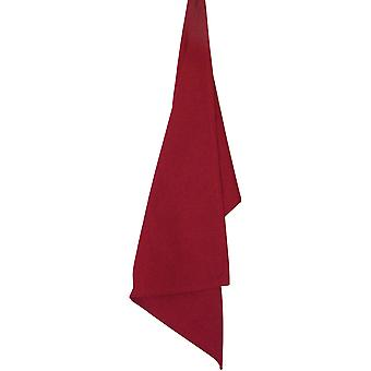 Solid Cranberry Plain Weave Towel 19