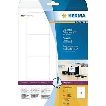 Herma 4355 Labels (A4) 70 x 67.7 mm Paper White 200 pc(s) Permanent Floppy disk labels Inkjet, Laser, Copier
