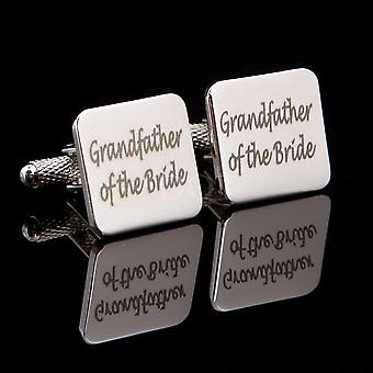 Grandfather of the Bride Laser Wedding Cufflinks