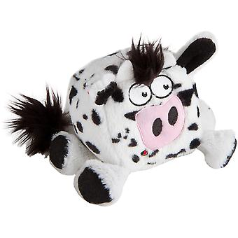 Trusty Pup Squares Plush Toy-Cow 774053