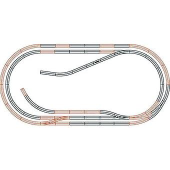 H0 Roco GeoLine (incl. track bed) 61103 Expansion set
