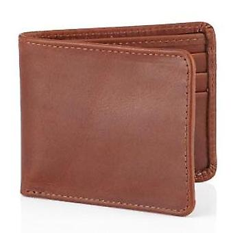 Daines & Hathaway Brooklyn Chestnut Brown Leather Wallet