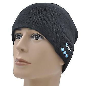 ONX3 ZTE Nubia Z9 (Black) Unisex One Size Winter Bluetooth Beanie Hat with Built-in Wireless Stereo Speaker Headphone