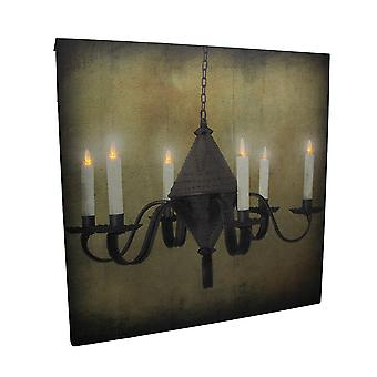 LED beleuchtete rustikal hängen Kerzenleuchter Leinwand drucken