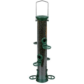 Cj Challenger Plastic Nyjer Feeder Green 6 Port Medium 35cm