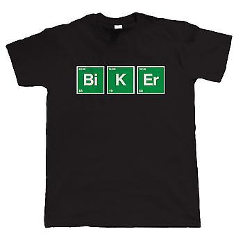 Biker, Mens Periodensystem Motorrad T Shirt | Motorrad-Enthusiasten Modern Classic 2 Takt Club Cafe Racer Superbike Gentleman Biker | Coole Geburtstag Weihnachtsgeschenk präsentieren ihn Papa Mann Sohn