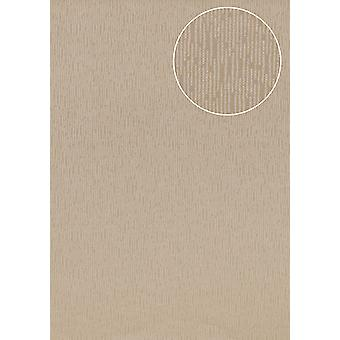 High-quality tone on-tone wallpaper Atlas COL-544-5 non-woven wallpaper smooth solid colors shimmering beige bronze 5.33 m2
