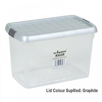 Wham Clear Clip Storage Box 850ml