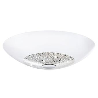 Eglo ELLERA Crystal White Bowl Ceiling Light Medium