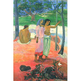 Paul Gauguin - The Talkers Poster Print Giclee