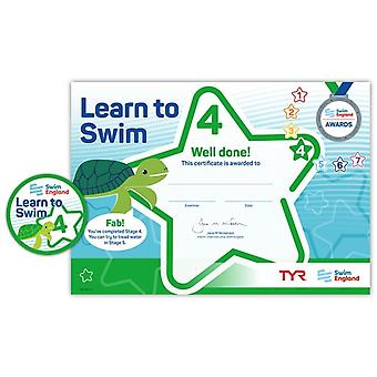 ASA Swim England Learn to Swim Award Stage 4
