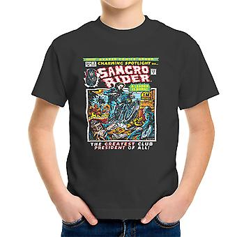 Samcro Rider Sons Of Anarchy Comics Book Kid's T-Shirt