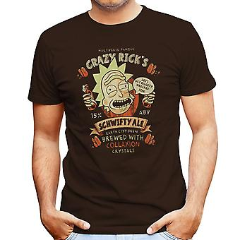 Crazy Ricks Schwifty Ale Rick And Morty Men's T-Shirt