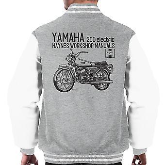 Haynes Owners Workshop Manual Yamaha 200 Electric Men's Varsity Jacket