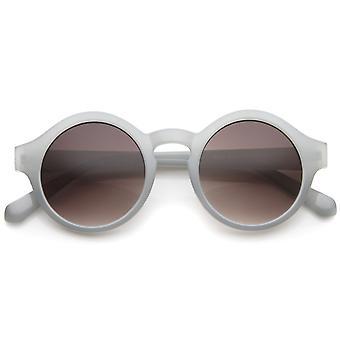 Retro 70s Fashion Pastel Color Horn Rimmed Round Sunglasses 47mm