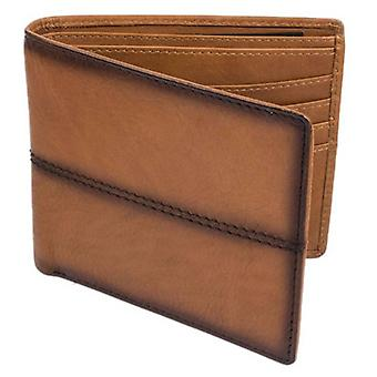 Dents Casual Leather Stiched Bifold Wallet - Tan