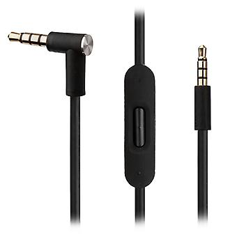 [REYTID] Replacement Black Audio Cable for AKG Y45BT Y50 Y40 Y55 K845BT K840KL Headphones w/ In-Line Remote & Mic - Accessory for iPhone & Android