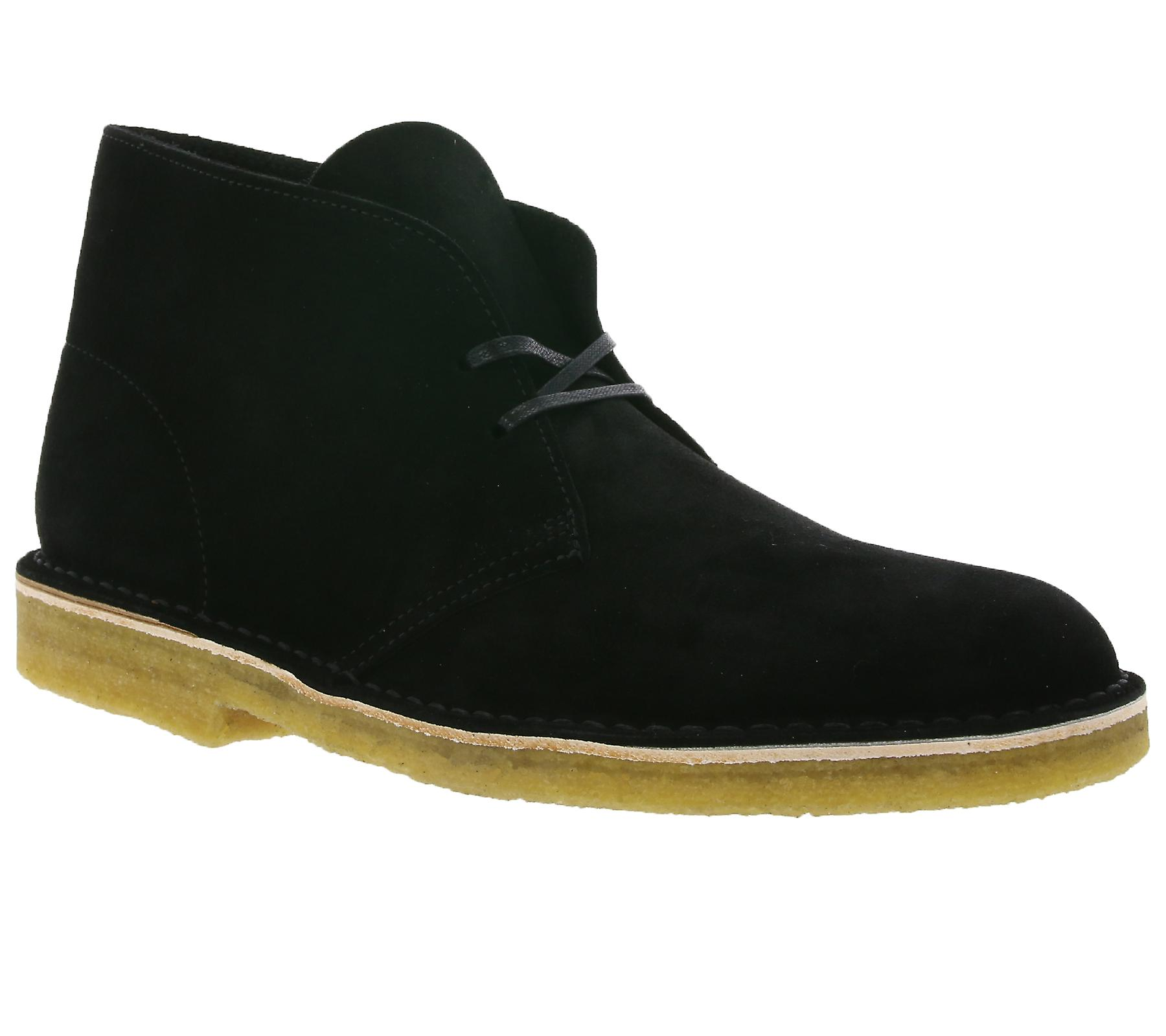 Clarks desert boot shoes men's genuine leather shoes boot black 26128537 be02c7