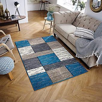 Portland 5503 L Blue  Rectangle Rugs Modern Rugs