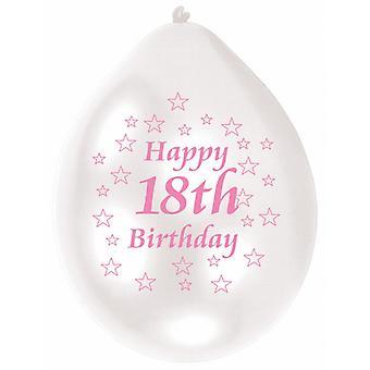 Amscan zwei Ton glücklich 18. Geburtstag Party Luftballons (Packung mit 10)
