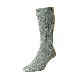 Waddington luxury men's cashmere dress socks in grey | By Pantherella
