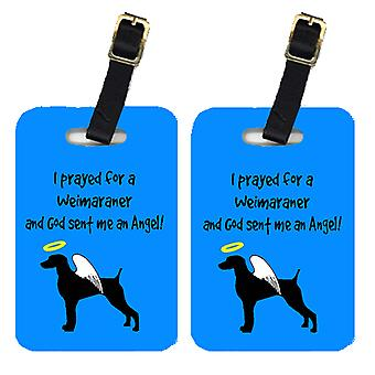 Carolines Treasures  AN1063BT Pair of 2 Weimaraner Luggage Tags