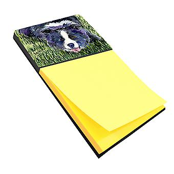 Border Collie Refiillable Sticky Note Holder or Postit Note Dispenser