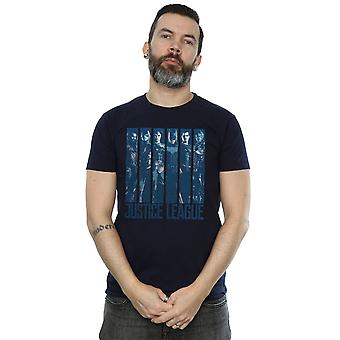 DC Comics Men's Justice League Movie Double Indigo T-Shirt