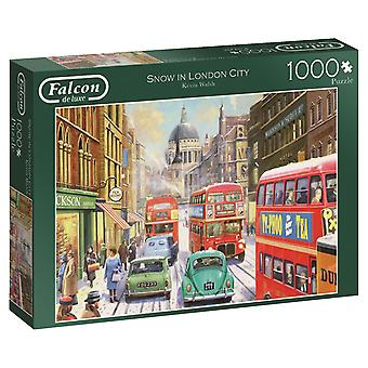 Falcon De Luxe - Snow In London City Jigsaw Puzzle - 1000 Piece