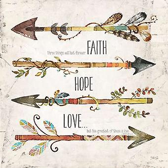 Faith Hope Love Poster Print by Marla Rae (12 x 12)