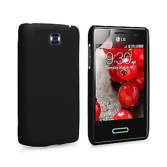 Yousave Accessories LG Optimus L3 II Hard Hybrid Case - Black