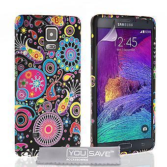 Yousave tilbehør Samsung Galaxy Note 4 maneter silikon Gel sak