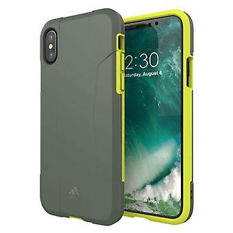 Adidas originals dual layer hard case for Apple iPhone X / 10 5.8 protective case cover yellow