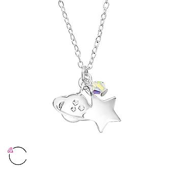 Space crystal from Swarovski® - 925 Sterling Silver Children's Jewellery